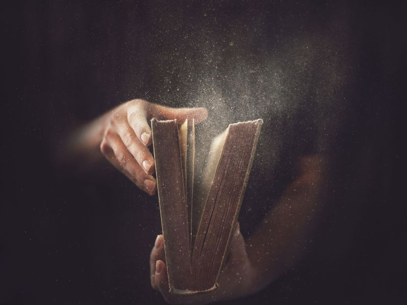 A dusty book